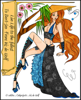 Asian style Pin up: gift by CatiProjectC