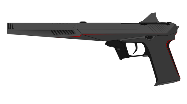 Nod Pistol Concept I (All Attachments) by Xenus888