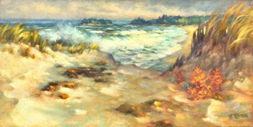 Sand and Surf by hbpaintings