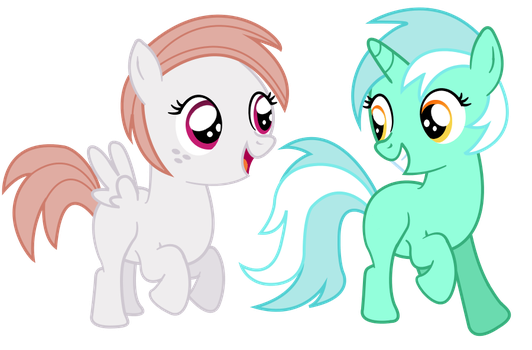 Pluck and Hopscotch by Pony-of-Interest