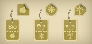 Eco-Friendly Tags And Stickers (PSD) by softarea