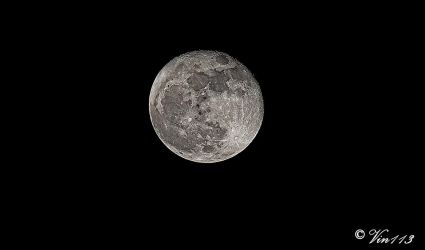 Super Moon  12/4/17  8:00 PM Eastern USA by vin113