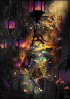 Frog Witch2 by oione