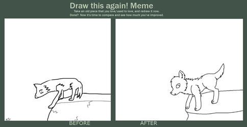Draw This Again Meme Wolf On Cliff Edge Base By Colette123 On