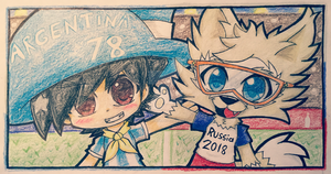 Gauchito and Zabivaka by KawaiiRebichan