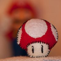 Mario Mushroom Plush by Lee-Scion