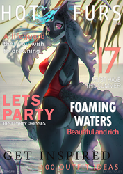 [YCH Collab] Magazine cover by EtskuniArt