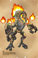 Golem Fire by Relatos-del-bardo