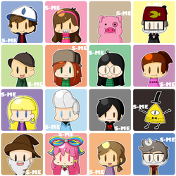 [F2U] Gravity Falls Icons Pack by Sasha-MUFFINEATER