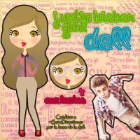 Justin Bieber Girl DOLL .PNG .PSD by MiniHazz