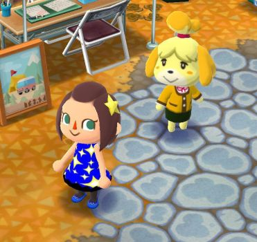 Isabelle and Laura in Animal Crossing: Pocket Camp by TotallyDeviantLisa