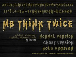 MB Think Twice | Grunge Font by modblackmoon