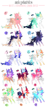 [OPEN] canine adoptable BATCH by Natx-chan