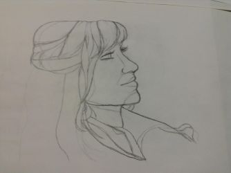 Art 122 Contour Drawing from live model again by AuroraLaurialis