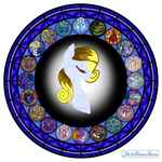 GIFT: White Light Stained Glass/Minimalism Vector by Th3BlueRose
