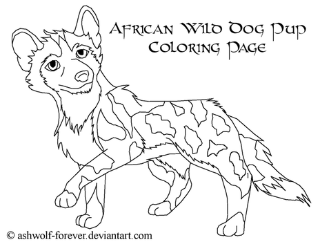 Browse line art character templates resources stock for African wild dog coloring pages