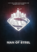 Man of Steel Minimalist Poster by JSWoodhams