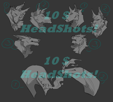 |YCH| 10$ HEADSHOTS by SevenThunderBolts