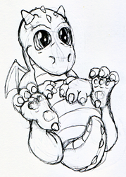A Baby Dragon by Dragonsbld