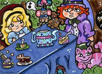 Alice and the tea party by CassieJ787