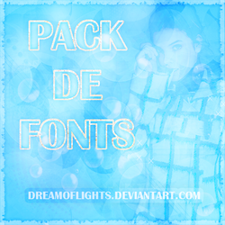 +Pack de Fonts by DreamOfLights