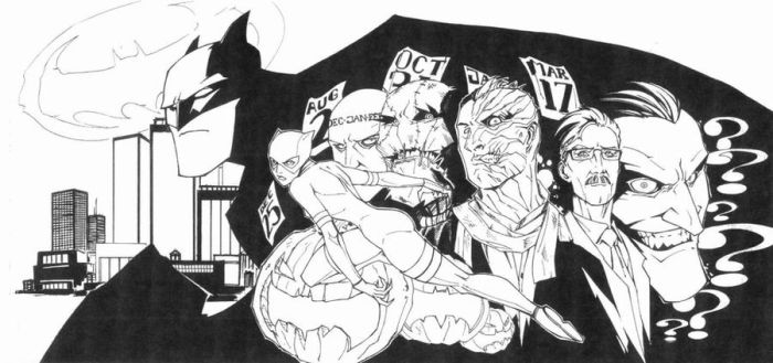 The Long Halloween ink by KidNotorious
