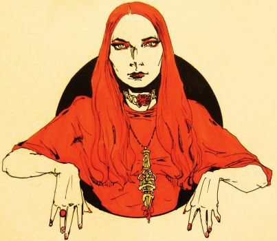 ASOIAF / Melisandre sketch II by psychicyouth