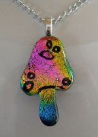 Magic Mushroom Dichroic Glass by HoneyCatJewelry