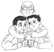 Troy and Abed and Dean Pelton by muffinpoodle