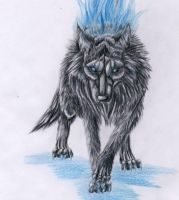 Din the Fire Wolf by punxnotdead309