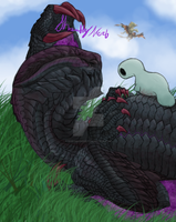Commission: Baby Gore Magala by ShrubbyNerb