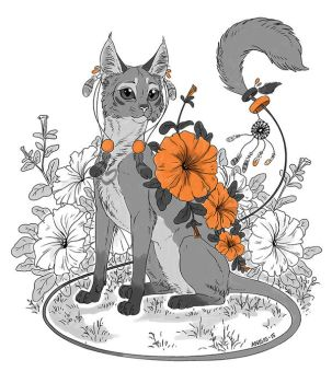 Flower cat by Anisis