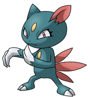 Sneasel (female) by ApplewoodArt