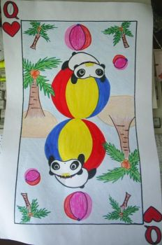 Queen Tare panda card.. by wossm