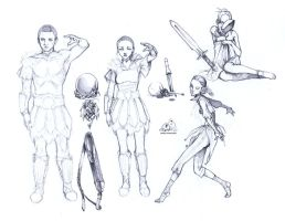 Random Skyrim Type Sketches by ghostfire