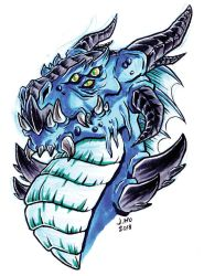 blue dragon by jasonhohoho