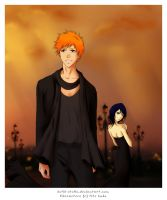 IchiRuki in black by Kotik-Stells