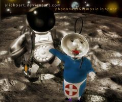 Phononaut And Lampsie In Space by SlichoArt