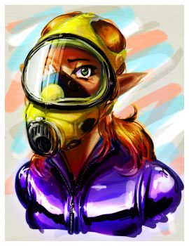 Painty Masked Mel by CommanderRab