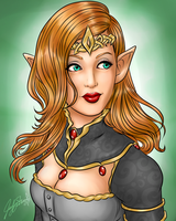 The Elven Queen by Miserie
