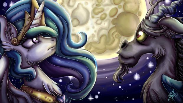 Night on the Moon Light Commission by Ebonyinkstone