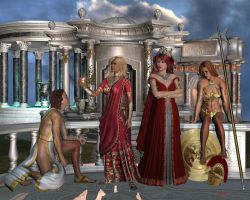 The Judgement of Paris by Hera-of-Stockholm
