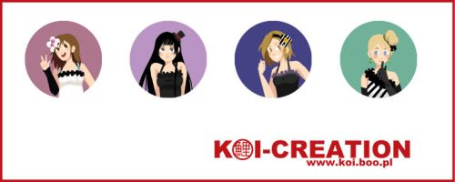 K-On badges by Nomikyo-chan