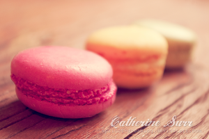 Pink Yellow Green Macaroons by apricot-dreaming