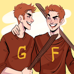 Fred and George by HetteMaudit