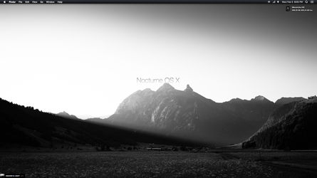 Nocturne Theme For OS X 10.9.x by AaronOlive