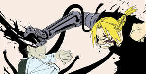 Edward Elric fights Pride the Homunculus by insanium12
