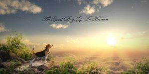 All Good Dogs Go To Heaven by BenjaminHaley