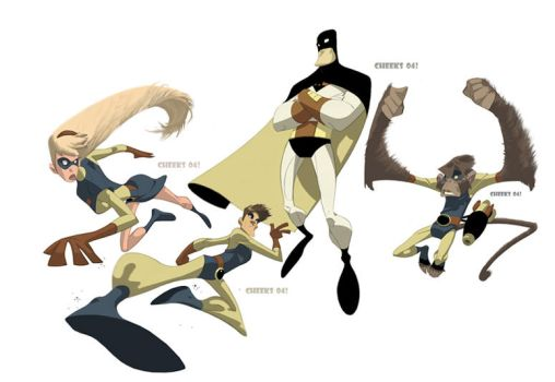 Space Ghost Line-up by cheeks-74