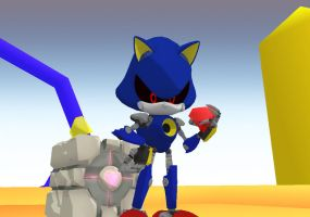 Metal Sonic's collected items by mitchika2
